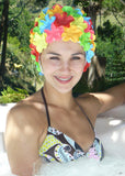 Fashy swimming cap - multi petal