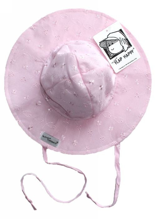 Flap Happy sun hats - pink anglaise