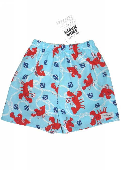 Flap Happy swim nappy - sky lobsters
