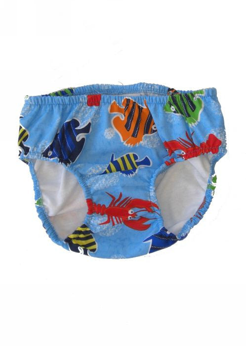 Flap Happy swim nappy - sky fish