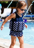 Konfidence float suit - polka dot