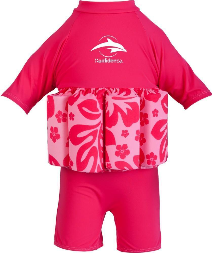 Konfidence float suit - pink hibiscus