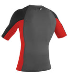 O'Neill mens rash top - graphite red