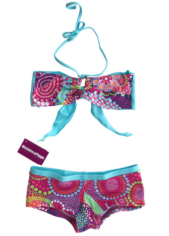 Seafolly girls bikini - tropical blue