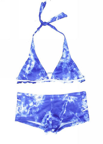 Seafolly girls bikinis - denim blue