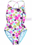 Kiwi girls swimsuits - white spots