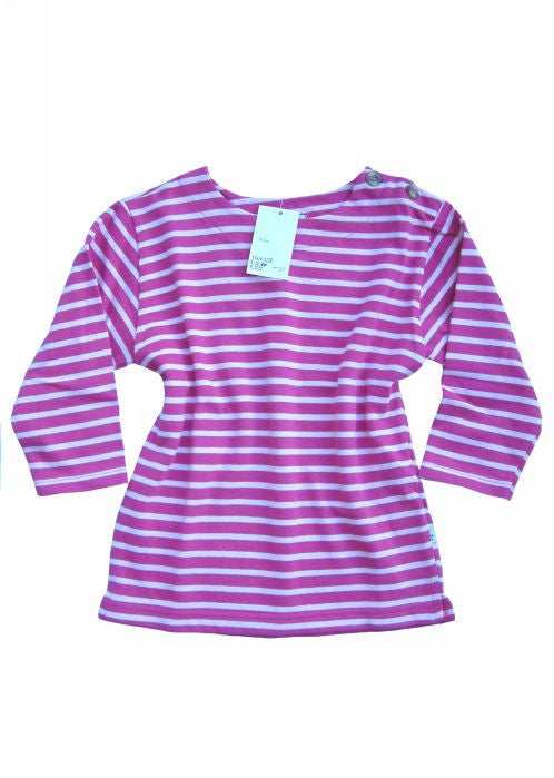 Inside Out crew neck top - pink stripe