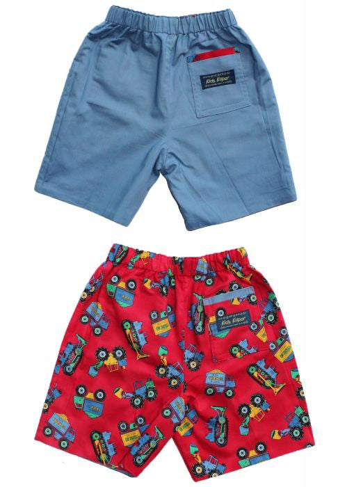 Kids Kaper boys shorts - red tractor