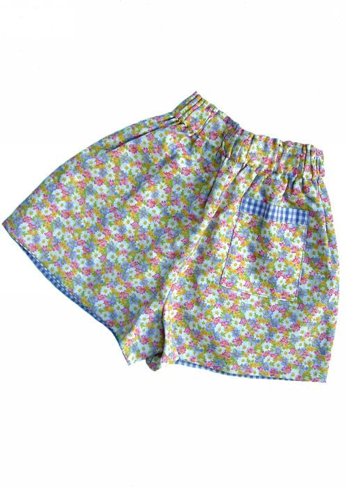 Kids Kaper girls shorts - lilac flower
