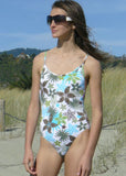 Kiwi girls swimsuits - turquoise/lime