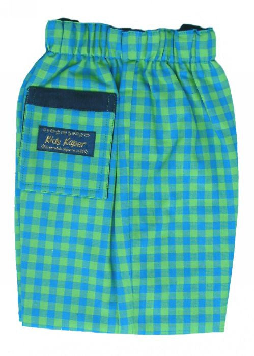 Kids Kaper boys trousers - green blue check