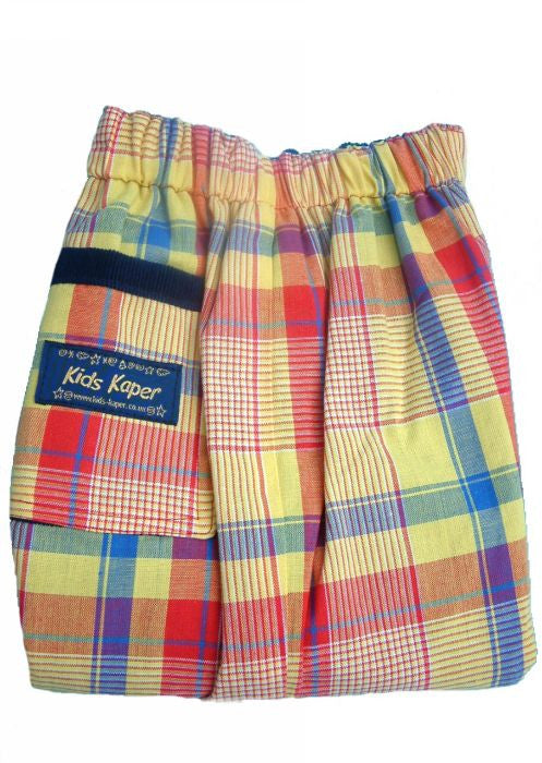 Kids Kaper boys trousers - red/yellow