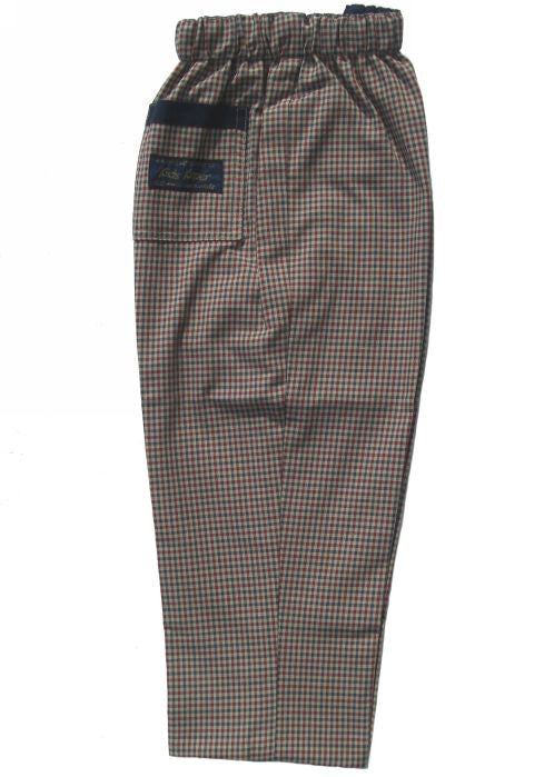 Kids Kaper summer trousers - beige check