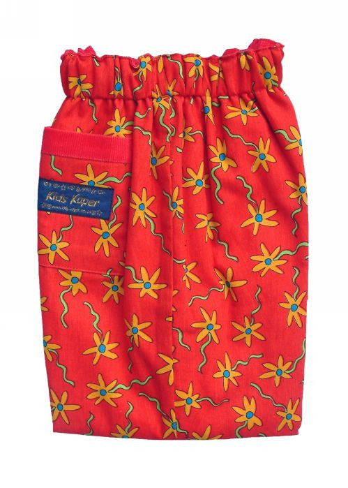 Kids Kaper girls trousers - red flower