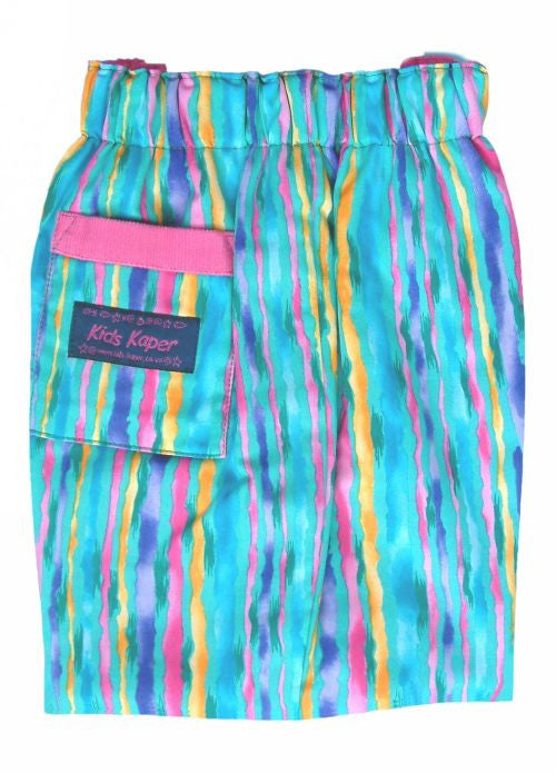 Kids Kaper girls trousers - turquoise stripe