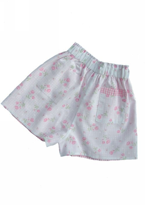 Kids Kaper girls shorts - white flower