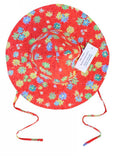 Kids Kaper sun hats - red flower