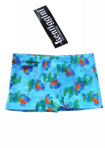 Boboli boys swim trunks - turquoise/lime