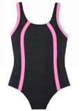 Lentiggini girls swimsuits - black/pink
