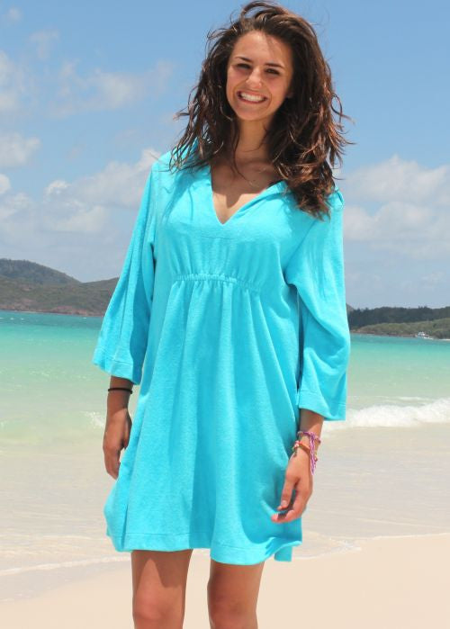 Mitty James adult beach robes - turquoise