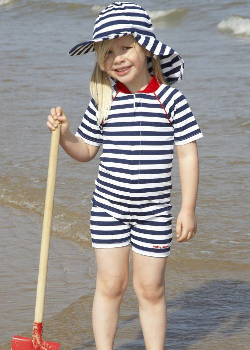 Mitty James sunsuits - navy/white