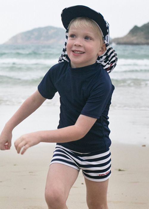 Mitty James boys swimshorts - navy/white