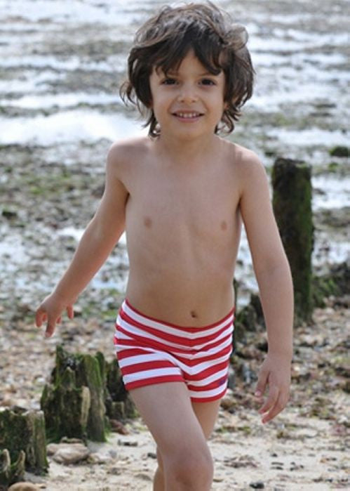 Mitty James boys swimshorts - red/white stripe