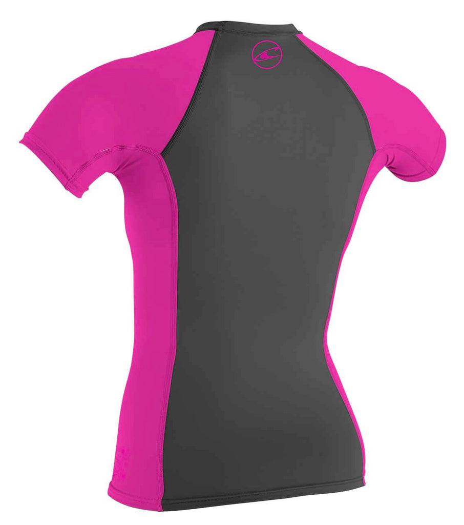 O'Neill girls rash tops - black berry