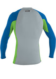 O'Neill mens rash top - ocean lime long