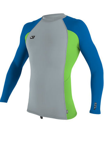 O'Neill mens rash top - ocean lime