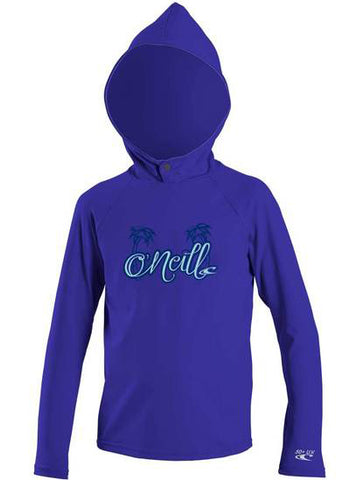 O'Neill girls rash tops - berry black long