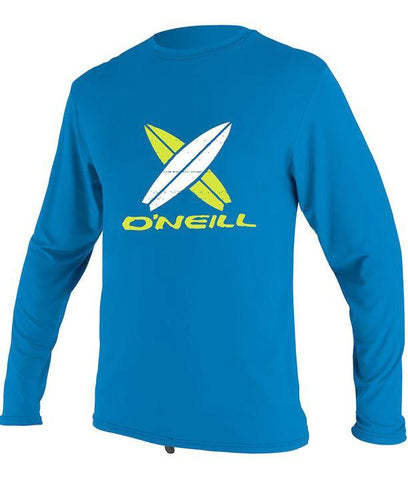 O'Neill girls rash tops - abyss freshmint