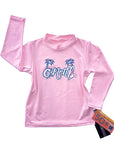 O'Neill toddler rash top - pink long