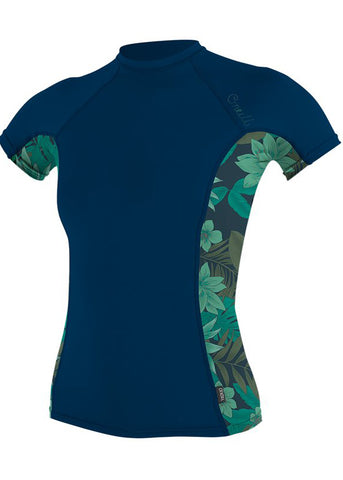 O'Neill womens rash top - dusk abyss long