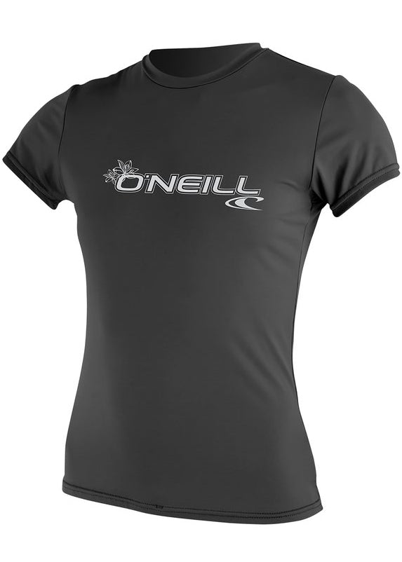 O'Neill womens rash top - graphite