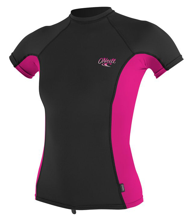 O'Neill womens rash top - black berry