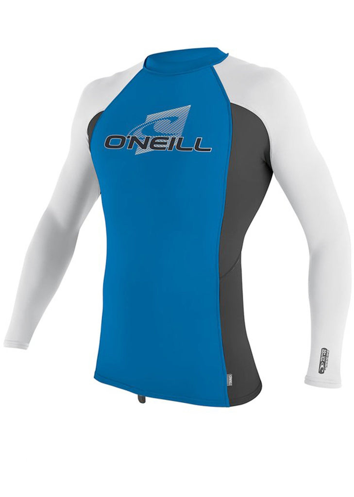 O'Neill youths rash tops - ocean white long