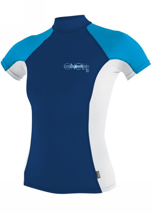O'Neill girls rash tops - cobalt