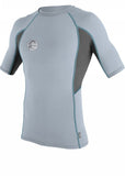 O'Neill mens rash tops - fog blue/graphite