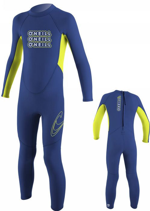 O'Neill wet suits - navy/lime full