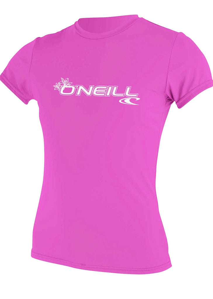 O'Neill womens rash top - fox pink