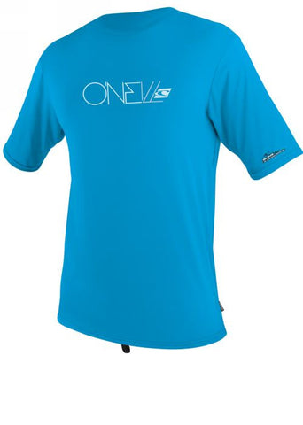 O'Neill womens rash tops - aqua/white