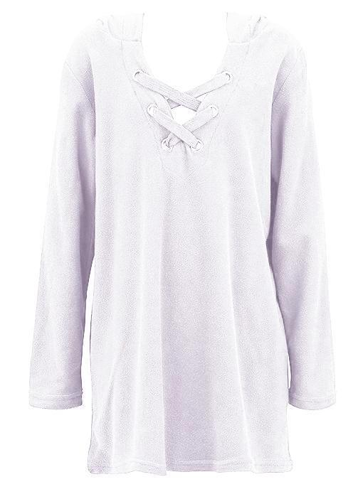 Seafolly girls kaftan - hawaii white towelling