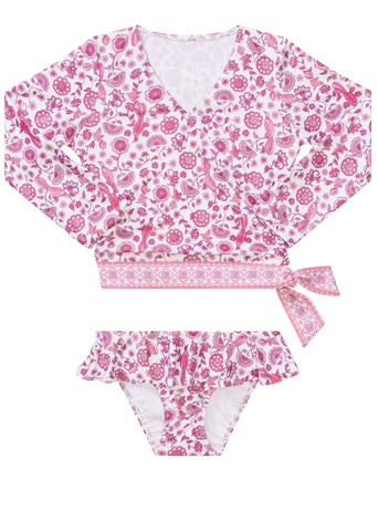 Seafolly UV two piece suit - blossom pink