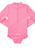 Seafolly UV sunsuit - strawberry pink