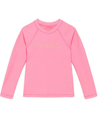 Seafolly girls UV rash top - ruby red