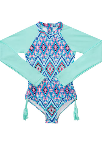 Seafolly UV sunsuit - emerald blue