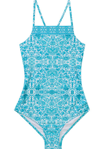 11b2d7a65e431 Seafolly girls swimsuit - ocean tapestry