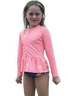Seafolly girls UV rash top - blue lagoon