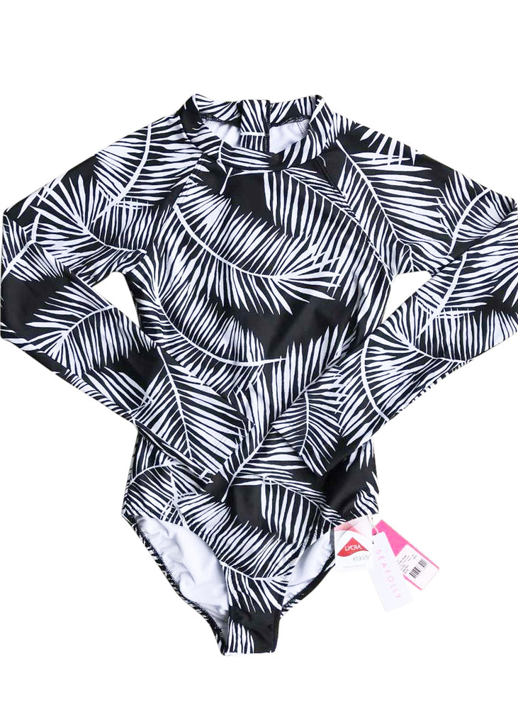 Seafolly UV sunsuit - black palm